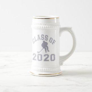 Klasse von 2020 Hockey - Grau Bierglas