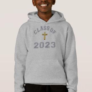 Klasse von 2023 christlichem Kreuz - Grau 2 Hoodie