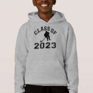 Klasse von 2023 Hockey - Schwarzes 2 Hoodie