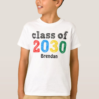 Klasse von 2030 personalisiert T-Shirt