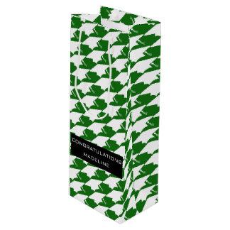 Klasse von Abschluss-Geschenk-Tasche 2017 (grüne Geschenktüte Für Weinflaschen