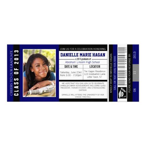 Klasse von Abschluss VIP-Aufnahme-Karte 2013 Personalisierte Ankündigungskarte