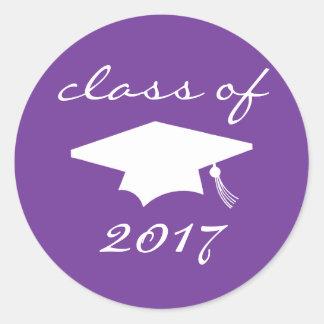Klasse von Aufkleber 2017 (lila Abschluss-Kappe)