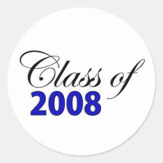 Klasse von Blau 2008 Runder Aufkleber