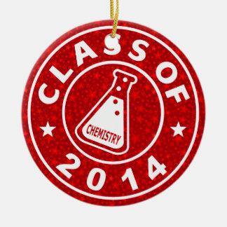 Klasse von Chemie 2014 Rundes Keramik Ornament