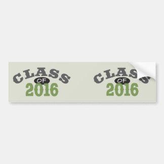 Klasse von Grün 2016 Autoaufkleber