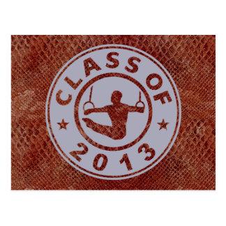 Klasse von Gymnastik 2013 Postkarte