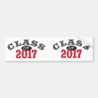 Klasse von Rot 2017 Autoaufkleber