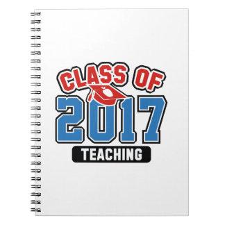 Klasse von Unterricht 2017 Spiral Notizblock