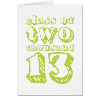 Klasse von zwei tausend 13 - Limones Grün Karte