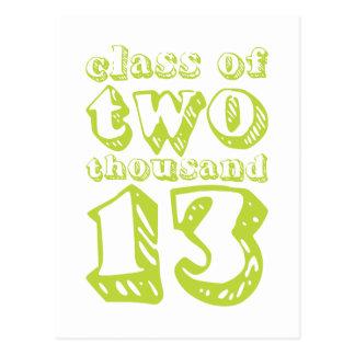 Klasse von zwei tausend 13 - Limones Grün Postkarte