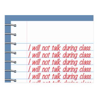 Klassen-Anmerkungen Postkarte