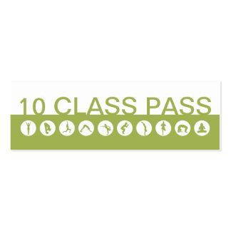 Klassen-Durchlauf der Yoga-Visitenkarte-10 Jumbo-Visitenkarten