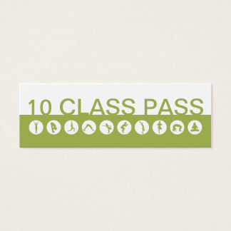 Klassen-Durchlauf der Yoga-Visitenkarte-10 Mini-Visitenkarten