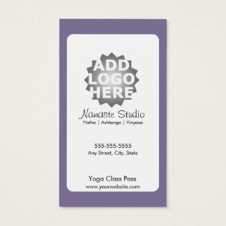 Klassen-Durchlauf der Yoga-Visitenkarte-10 Visitenkarte