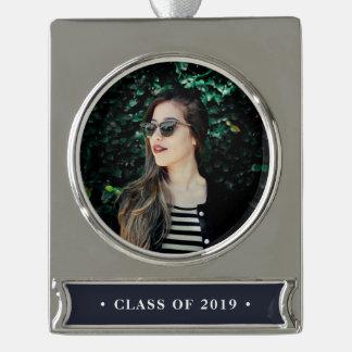 Klassen-Jahr-Abschluss-Foto Banner-Ornament Silber