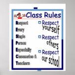 Klassen-Regeln: Respekt Plakate