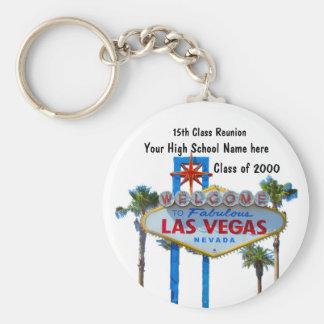 Klassen-Wiedersehen in Las Vegas Standard Runder Schlüsselanhänger