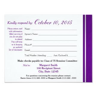 Klassen-Wiedersehenvarsity-Streifen-Wartekarte 10,8 X 14 Cm Einladungskarte