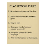 Klassenzimmer ordnet Plakat 2,0 an
