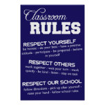 Klassenzimmer ordnet Plakat an