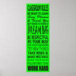 "Klassenzimmer ordnet Plakat (Limones Grün), 12"" x"