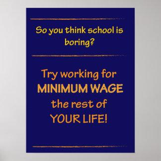 Klassenzimmer-Plakat-Versuch-Mindestlohn Poster