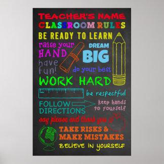 Klassenzimmer-Regeln - das personalisierte Poster