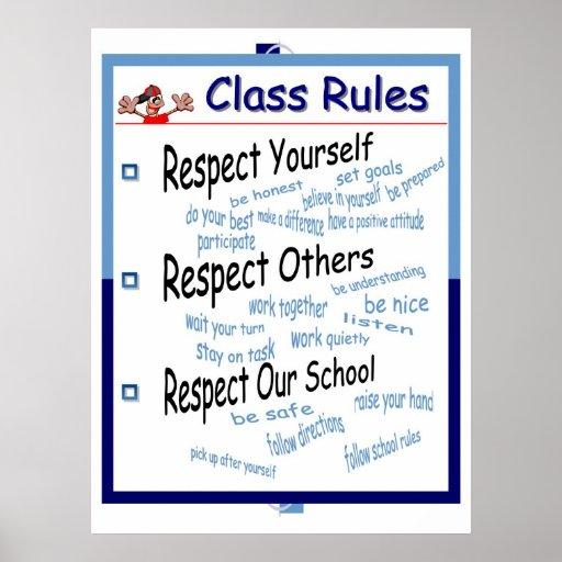 Klassenzimmer-Regeln Plakatdruck