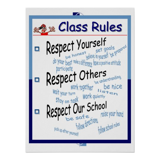 Klassenzimmer-Regeln Poster