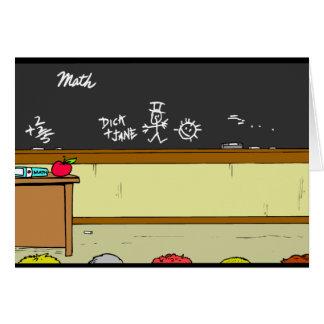 Klassenzimmer-Szene Karte