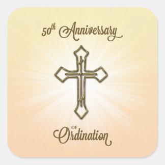 Klassifikations-Jahrestag der Glückwunsch-50. Quadratischer Aufkleber