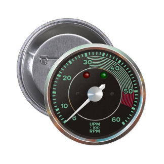 Klassiker 356 rev entgegengesetzt, altes runder button 5,7 cm