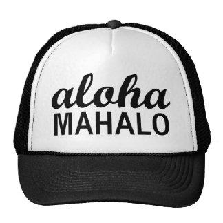 Klassiker Aloha Mahalo Typografie Baseball Mützen