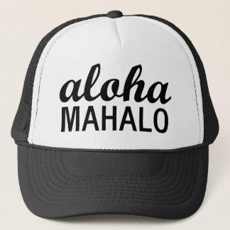 Klassiker Aloha Mahalo Typografie Truckerkappe