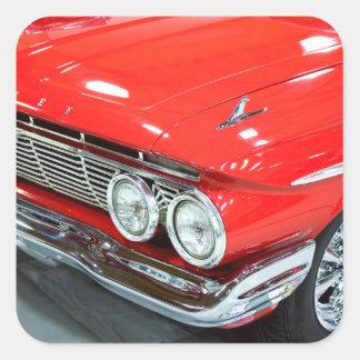Klassiker Chevrolet Impala 1961 Quadratischer Aufkleber
