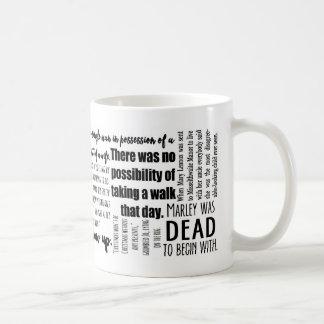 Klassiker-erste Linien in der Literatur-Tasse Kaffeetasse