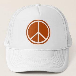 Klassiker gebranntes orange Friedenszeichen Truckerkappe