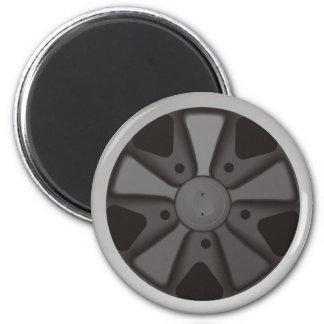 Klassiker trägt das Autorennenrad zur schau, das Runder Magnet 5,7 Cm