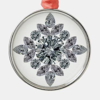 klassisch-bling silbernes ornament