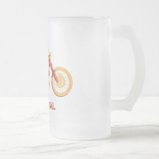 Klassisch - Rot Mattglas Bierglas