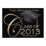 Klassische Abschluss-Mitteilung des Schwarz-2013 Einladungskarte