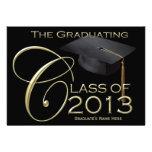 Klassische Abschluss-Mitteilung des Schwarz-2013 u Einladungskarte