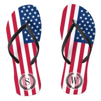 Klassische amerikanische Flagge Flip Flops