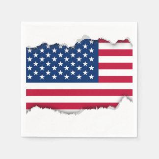 Klassische amerikanische Flagge Papierserviette