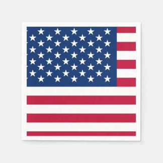 Klassische amerikanische Flagge Serviette