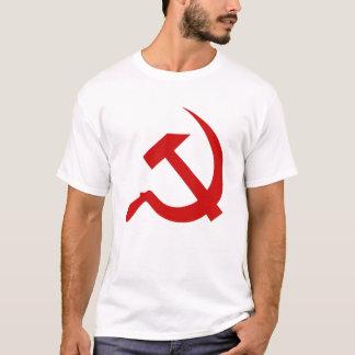Klassische Art-roter Hammer u. Sichel auf Weiß T-Shirt