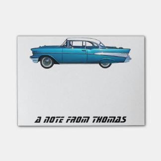 Klassische Auto Chevy BelAire kundenspezifische Post-it Klebezettel