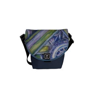 Klassische Auto-Kunst-Bote-Tasche Kuriertasche