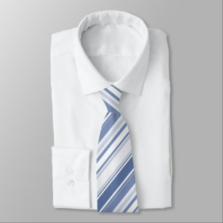 Klassische blaue Diagonale Stripes geometrisches Bedruckte Krawatten